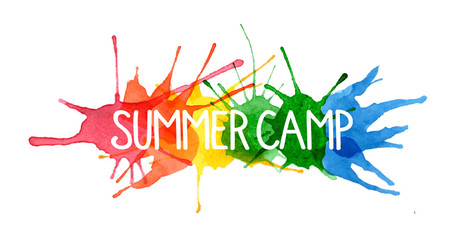 SUMMER CAMP on Splashes of Watercolour