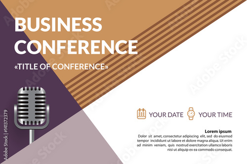 Business Conference Invitation Concept Colorful Simple