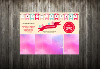 Photography Studio Easter Special Flyer Layout