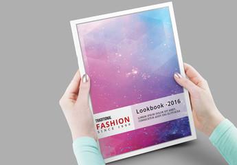 Grid Style Fashion Lookbook Layout 9