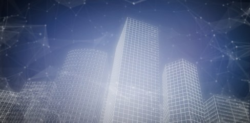 Composite image of digital city 3d