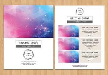 Two-Page Photography Pricing Flyer Layout