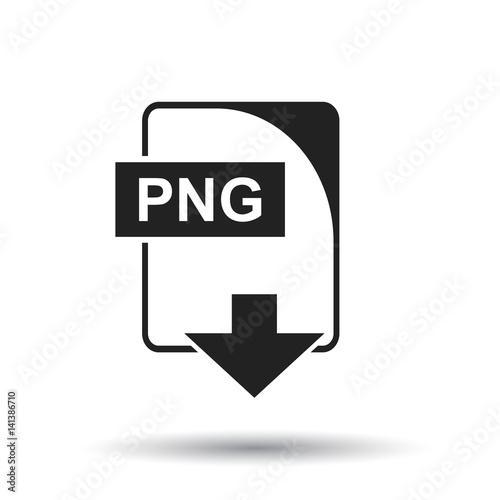 PNG icon  Flat vector illustration  PNG download sign symbol
