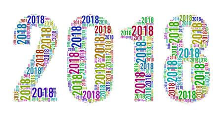 2018 tags wordcloud illustration