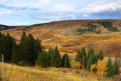 Wall mural Fall Colors in Mountain Landscape