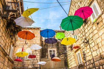 Chorwacja - wyspa Korcula. Urokliwe uliczki miasta Korcula