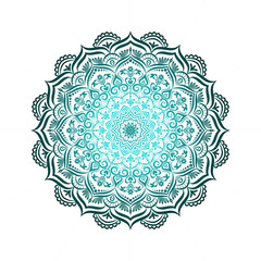 Hand-drawn lace frame, mandala.