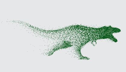 blurred motion of tyrannosaur