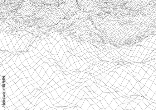 wireframe mountains quot retro styled futuristic wireframe landscape with 1605