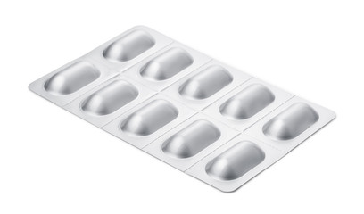 Pills in aluminum blister pack