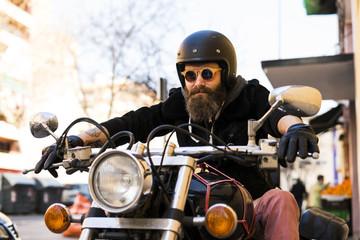 Brutal man on classic?bike