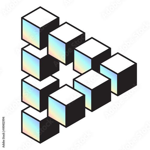 "Penrose Triangle Cubes ""Medium penrose t..."
