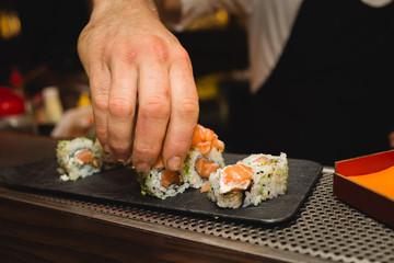 Fotobehang Sushi bar Sushi