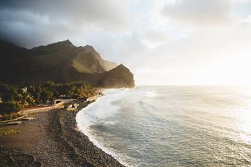 Seashore and cliffs
