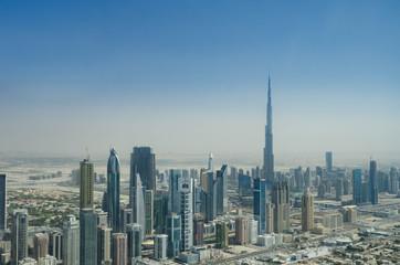 Luftbild Dubai mit Hochhäusern