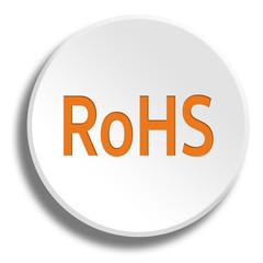 Orange rohs in round white button with shadow