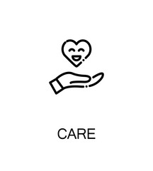 Care, charity icon