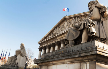The French national Assembly , Paris, France