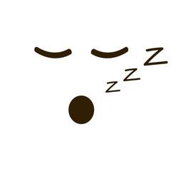 Sleepy emoticon with closed eyes in trendy flat style. Sleep, resting emoji vector illustration.