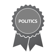 Isolated badge with  the text POLITICS