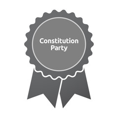 Isolated badge with  the text Constitution Party