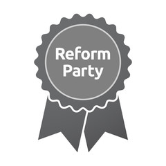 Isolated badge with  the text Reform Party