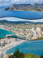 Collage of Calp landscape Spain