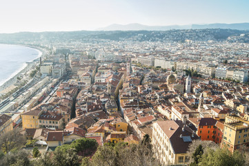 View of Nice from a height.