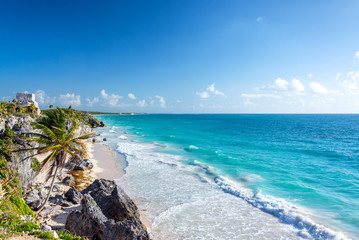 Tulum Ruins and Caribbean Wide Angle