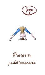Young woman practicing yoga, standing in Wide Legged Forward Bend exercise, Prasarita Padottanasana pose
