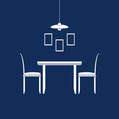 Dining room furniture icons