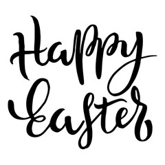 Happy Easter Typographic Phrase
