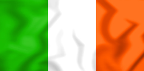 Flag of the Ireland. 3D Illustration.