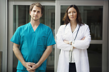 Portrait of surgeon and doctor