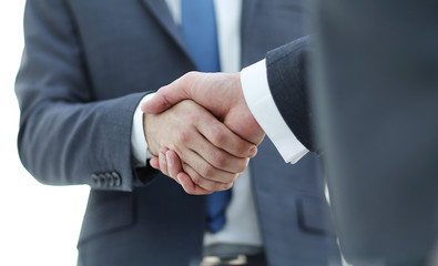 Men shaking hands. Confident businessman shaking hands with each