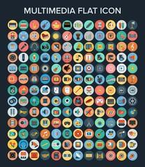 Multimedia Flat Icon Set