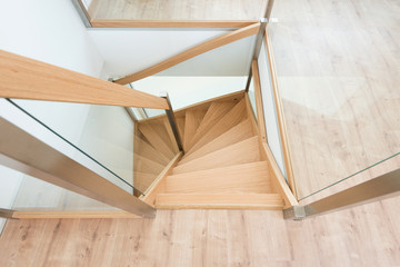 Stairway from above in a modern house