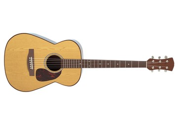 3d illustration of an acoustic guitar