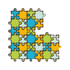 jigsaw puzzle pieces image vector illustration eps 10