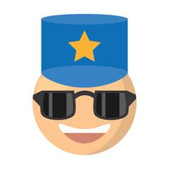 emoji police expression image vector illustration eps 10