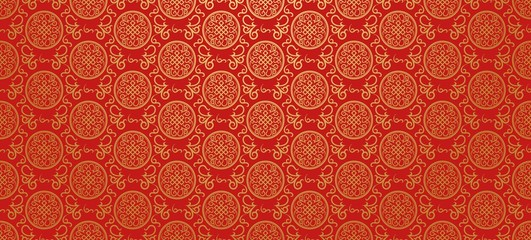 Red background. Chinese and Japanese style. Vector illustration