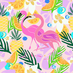 Hand drawn vector pattern. Summer vacation.