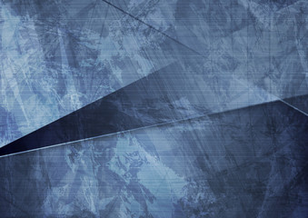 Grunge material dark blue corporate background