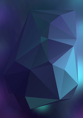 Modern abstract background triangles 3d effect glowing light04