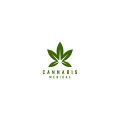 medical cannabis emblem, logo