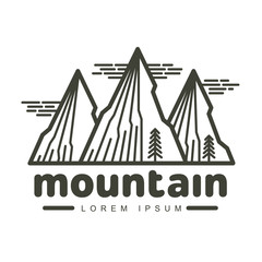 Mountains logo templates