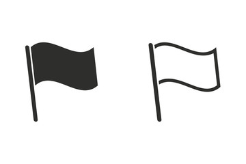 Flag - vector icon.