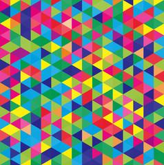 モザイク 三角 カラフル
