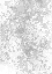Vector illustration with halftone pattern. Black and white abstract vector background.