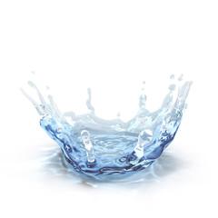 water splash isolated on white. 3D illustration